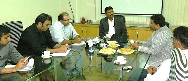 Meeting with F&V Exporters MD, Marketing Manager, Marketing officer with Exporters