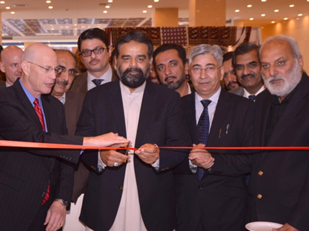 Federal Minister of Food Security and Research, Mr. Sikander Hayat Khan Bosan inaugurating the event